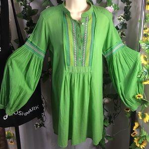 *Zara Basic* Cotton boho style mini dress over top